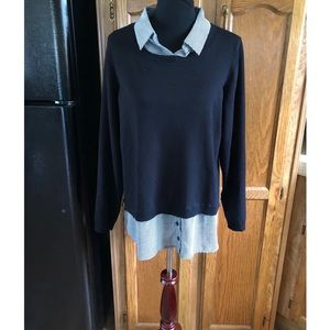 Adrianna Papell Faux Layer Sweater Size XL